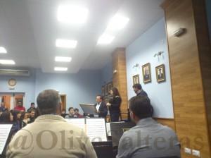 La Banda del Maestro Tejera en el ensayo de La Oliva